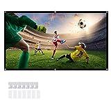 100 Pulgadas Pantalla para Proyector, 16:9 HD Plegable Antiarrugas Portátil Tela de Proyección Lavable Proyección de...