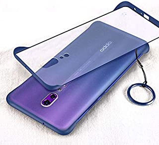 YEESOON Oppo Reno Z Case, Ultra Slim Matte Translucent Hard PC Case Four Corners Shockproof Back Cover with Ring Lanyard f...