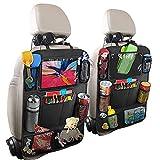 UTOBY 2 Stück Auto Rückenlehnenschutz Rücksitz Organizer für Kinder Oxford Stoff Wasserdicht...