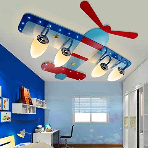 Kinderzimmer Junge Raumdeckenleuchte LED-kreative Karikatur Flugzeug Auge Mädchen Schlafzimmerlampe Beleuchtung Lampen
