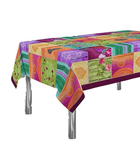 Gemusterte Tischdecke Springie , dekorativ, schmutzabweisend, Frühlingsfarben, Dekoration für das Haus 240 x 150 cm