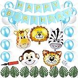 Sunshine smile Dschungel Kindergeburtstag Deko,Safari geburtstagsdeko Junge,Dschungel Geburtstag...