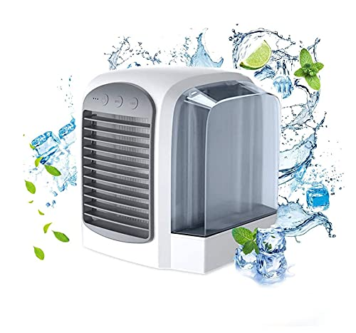 Breeze Maxx Air Cooler - Personal Fan - Rechargeable Water-Cooled Air Conditioner- Rapid Cooling System - Personal Air Conditioner with 3 Fan Speeds & Water Tank for Room Office Table Outdoor