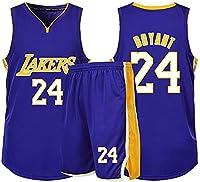 バスケットボールジャージー24#神戸スポーツウェアセットレイカーズファンジャージートレーニングスウェットシャツキッズティーンズボーイ通気性速乾性-3XL_紫の