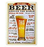 Metal Poster Bier Schilder für Bar, Home, Restaurant Wall