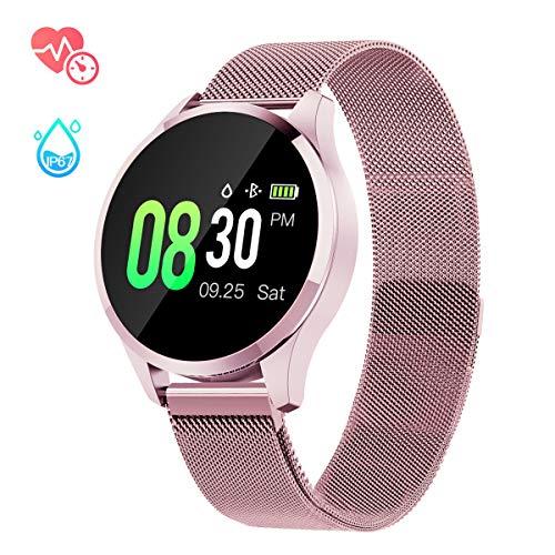 GOKOO Smartwatch Mujer Rosa Impermeable Reloj Inteligente Elegante Fitness con Monitor Impermeable...