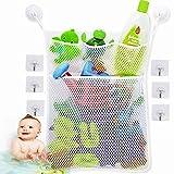 Nifogo Badewannen Spielzeug aufbewahrung,badespielzeug aufbewahrung,Bath Toy Organizer,badespielzeug Netz,Atmungsaktiv, um zu verhindern, DASS Spielzeug schimmelt(Weiß)