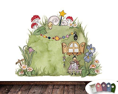 Wandtattoo Elfenheim für die Elfentür im Kinderzimmer