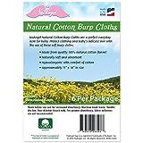 NuAngel 6 Piece Cotton Burp Cloths, Natural