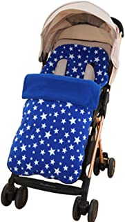 Universal Footmuff for Stroller and Pushchair Annex Mat Foot Cover Baby Sleeping Bag Waterproof Windproof Cold-Proof (Blue)