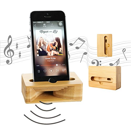 Wooden Cell Phone Stand, Coopsion Phone Holder Wooden Sound Amplifier for iPhone 7 7Plus 6 6Plus Samsung and Cell Phone