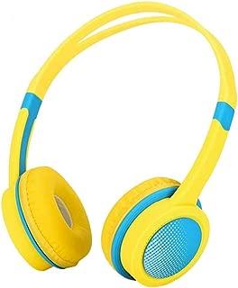 子供 ヘッドホン MOSUNA 子供専用ヘッドホン 有線 ヘッドセット 密閉型 85dB音量リミット制御 3.5mmステレオプラグ採用 オーバーイーヤーヘッドホン 超軽量 搭載 iPad、iPod、iPhone タブレット ラップトップ Androidスマートフォン PCコンピュータに適用(黄色)