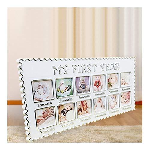XY399 graden Kind fotolijst Baby Groei Memorial Foto Fotolijst Voor Mijn Eerste Jaar Pasgeboren 12 Maanden Verjaardag Gift Home Kamer Muurdecoratie