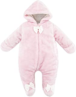 kavkas Cute Baby Warm Hooded Bodysuit for Winter Cotton Snowsuit Outfit, 0-9 Months