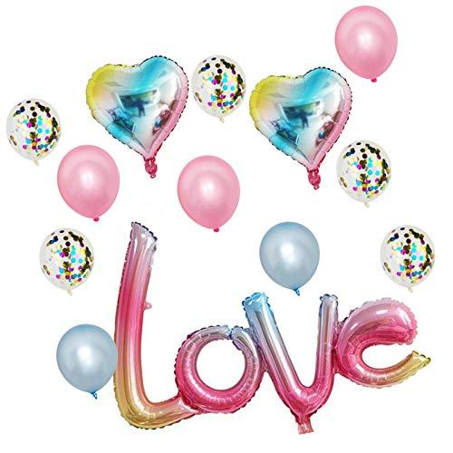 Te Amo Globos Y Globos De Corazón Set, 13PCS Globos De San Valentín Para Decoraciones Del Día De San Valentín, Decoraciones Románticas Noche Especial