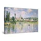 Startonight Cuadro Moderno en Lienzo - Reproducción de Monet Verano - Pintura Abstracta para Salon Decoración Grande 80 x 120 cm