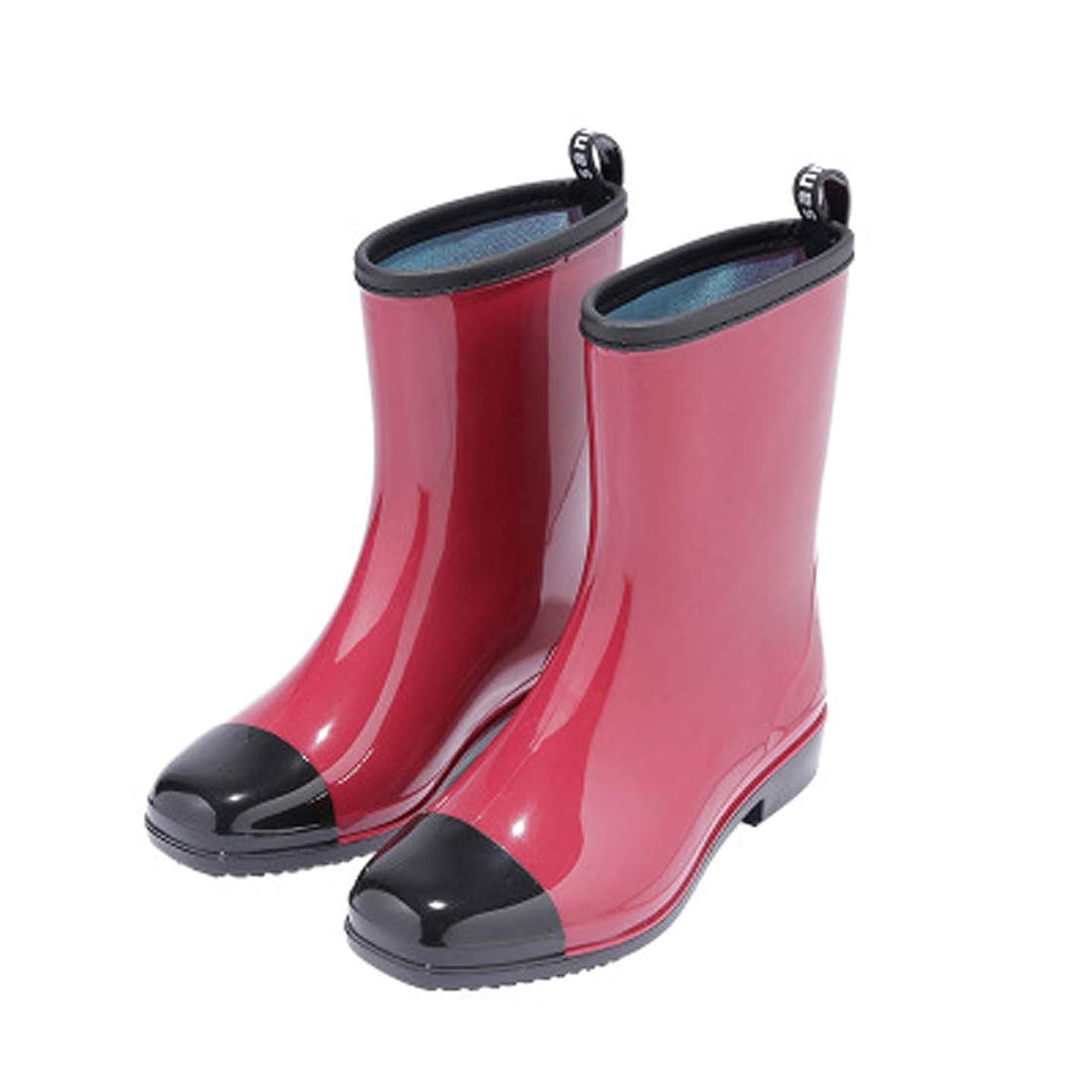 レベルインクホイットニー[ライフ物語] レディース レインブーツ 女の子レインシューズ 防水短靴 おしゃれ雨靴 大人雨具ラバーシューズ 可愛い