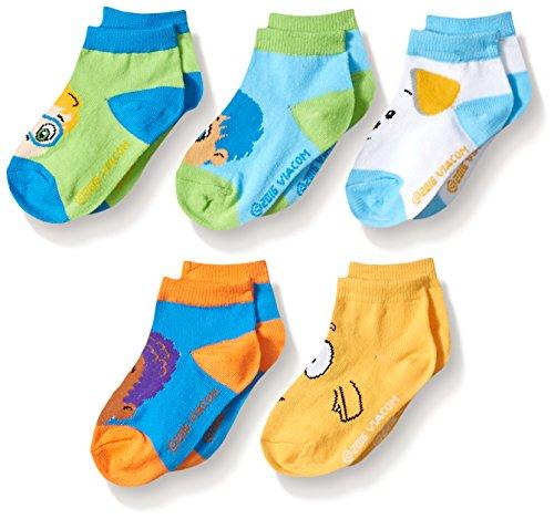 Nickelodeon boys Bubble Guppies 5 Pack Shorty Socks, Assorted Sherbert, Shoe Size 4-8 US