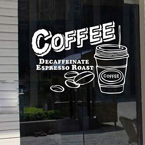 BFMBCH Milch Tee Coffee Shop Cafés Eis Brot Kuchen Küche Wandkunst Aufkleber Dekoration Kunstwand Dekor Wandaufkleber A1 42x55cm