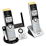 VTECH IS8121-2 Super Long Range up to 2300 Feet DECT 6.0 Bluetooth 2 Handset Cordless Phone for Home with Answering Machine, Call Blocking, Connect to Cell, Intercom and Expandable to 5 Handsets