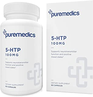 PUREMEDICS 5-HTP 100 mg - 5 HTP Supplement to Support Neurotransmitter Function and Positive Mood States - Pharmaceutical-...