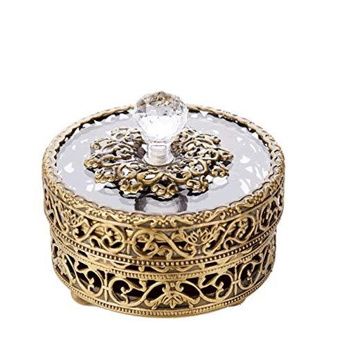 YUTRD ZCJUX Caja de joyería -GAGS Lid Caja de joyería Retro Europea Collar Anillo Compacto y Almacenamiento Exquisito