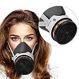 Maschera respiratoria semifacciale, riutilizzabile, con filtro, protezione per le vie respiratorie da polveri e gas