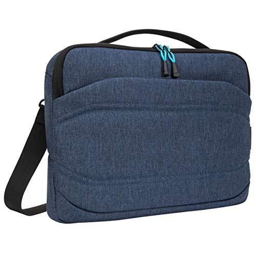 Targus Groove X2 schmale Tasche, vielseitige Laptoptasche 13 Zoll, wasserabweisende Umhängetasche für Notebooks, ideal für Uni und Büro – Marineblau, TSS97901GL