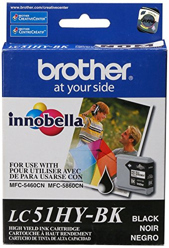 Brother LC51HYBK Black High Yield Ink Cartridge 900Pages