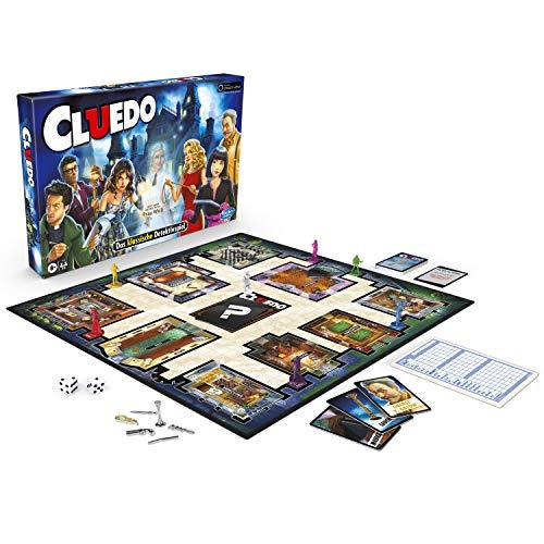 Hasbro Cluedo Spiel; mit dem Geist von Frau Weiß; Detektivspiel für Kinder ab 8 Jahren
