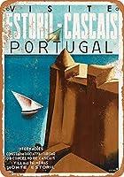 ヴィンテージティンサインメタルプレートプラーク、ポルトガル-女性の男性のための家の壁の芸術の装飾の鍋のプラークのためのビンテージの外観の複製金属サイン、屋内または屋外に簡単にマウント