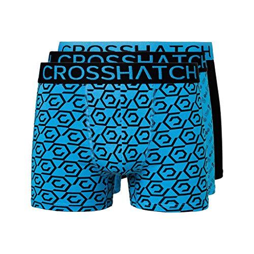 Crosshatch Herren Czapla Boxershorts Gr. XL, schwarz / blau