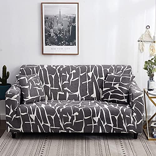 PPOS String Bedruckte Sofabezüge Für Wohnzimmer Elastische Stretch Schonbezug Eckige Sofabezüge A6 4 Sitze 235-300cm-1pc-1