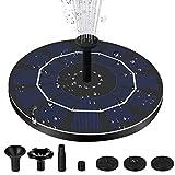 Ulapithi Fuente solar de 2,5 W, 6 V, bomba para estanque, fuente de jardín, piscina, pequeña fuente solar con 7 estilos de fuente, para decoración de jardín
