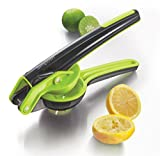 Simposh Citrus Juicer Squeezer | Manual Handheld Juicer Press for Fresh Citrus Lemon Lime Orange | Patented Easy-to-Squeeze Mechanism | Seeds and Pulp Strained | Ergonomic handle | Gray/Green