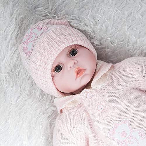 Hongge Reborn Baby Doll,Simulation Baby Silikon Wiedergeburt Puppe Lebensechte Wiedergeburt Baby Puppe Spielzeug Geschenk 55cm