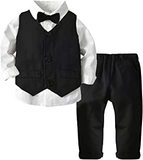 ARTMINE Baby Boys & Little Boys 3-Pieces Formal Suit,  6 Months- 9 Years
