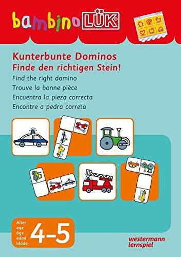 bambinoLÜK-Übungshefte: bambinoLÜK: 4/5 Jahre - Vorschule: Kunterbunte Dominos Finde den richtigen Stein