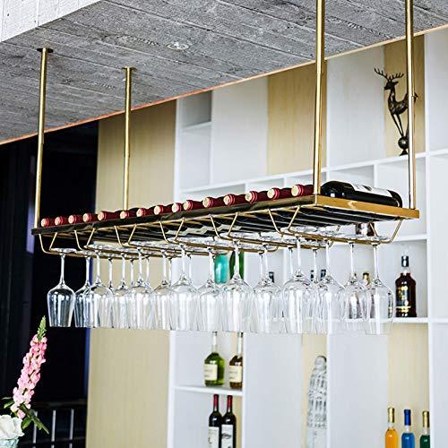 Estante para vino montado en la pared con pantalla multifunción | Porta botella de vino ajustable | Soporte de vidrio para copas colgantes | Estante de almacenamiento de metal | Decoración del hogar