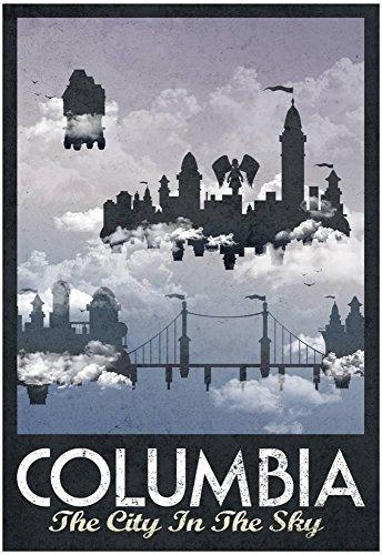 "Poster Revolution Columbia Retro Travel Poster, 13"" x 19"""
