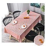 HotYou Abwaschbar Tischdecke Eckig Wasserdicht PVC Stoff Tischtuch Tischwäsche Pflegeleicht Garten Zimmer Tischdekoration,Farbe 11,90 * 135 cm