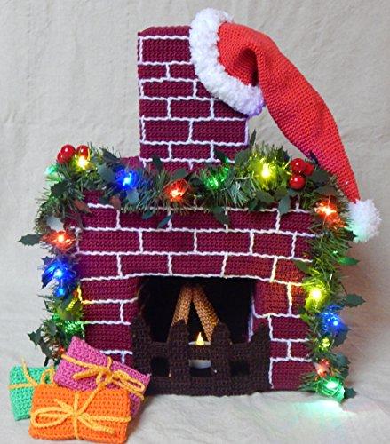 Häkelanleitung Weihnachtlicher Kamin