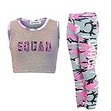 GUBA -  Tuta da ginnastica  - università - ragazza Squad Neon Pink Camo 9-10 Anni