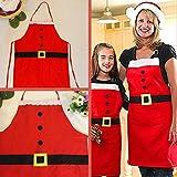 HEITIGN 2 Pcs/Set Delantal De Navidad Delantal para Adultos, Decoración Navideña Juego Combinado De Delantal De Cocina para Padres E Hijos, Delantal para Niños Cocina Cena Delantal De Papá Noel
