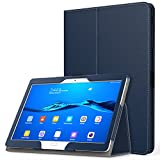 MoKo Huawei MediaPad M3 Lite 10.0 Hülle - PU Leder Ständer Tasche Schutzhülle Schale Smart Hülle mit Stift-Schleife & Standfunktion für Huawei MediaPad M3 Lite 10.0 Zoll Tablet-PC, Marineblau