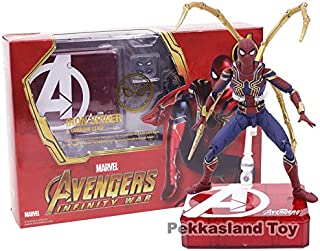 ML.PRODUCTS Figuarts Marvel Avengers Infinity War Iron Spider Spiderman PVC Action Figure Collectible Model Toy- 14CM
