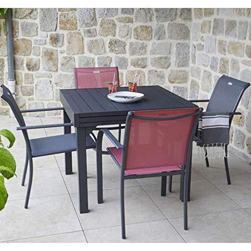 Ozalide 12057 Table de Jardin Extensible Honfleur 4/6P Aluminium...