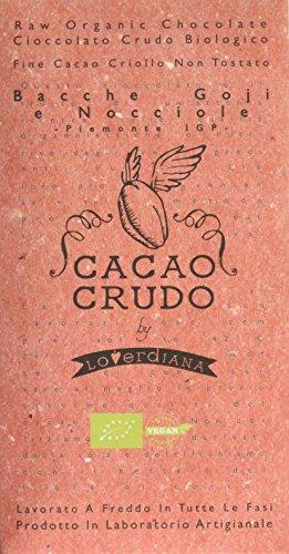 Cacao Crudo Cioccolato con Bacche Goji e Nocciole IGP Tavoletta Cacao 63% Cruda - 50 g