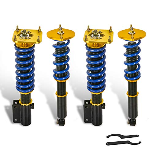 MOSTPLUS Coilover Compatible with 1986-1991 MAZDA type RS RX7 RX-7 FC3S Adjustable Height Suspensions Coil Spring Struts Kits (Set of 4)