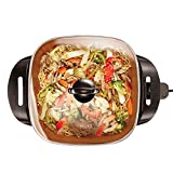 BELLA (14607) Electric Skillet, 12' x 12', Copper